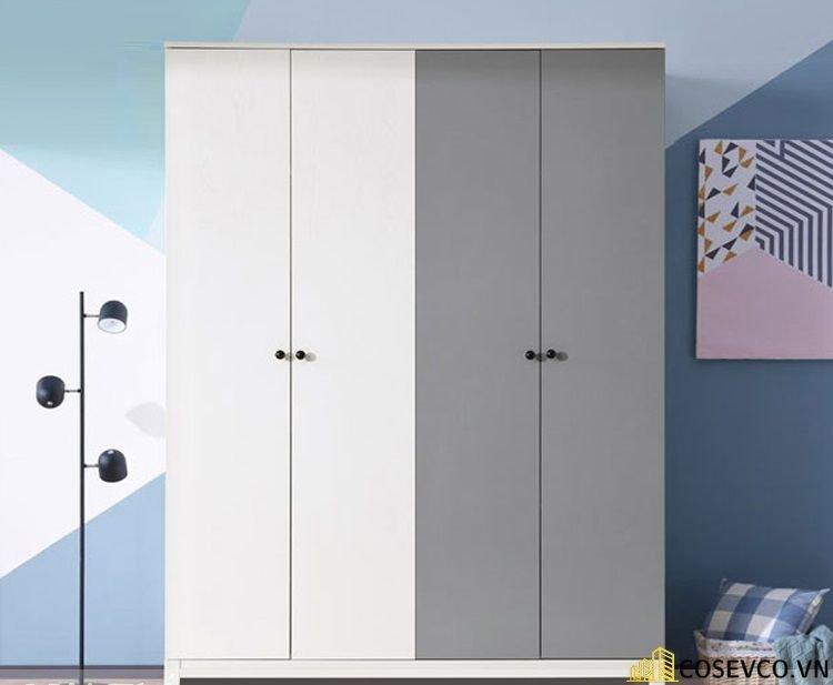 Mẫu tủ quần áo gỗ công nghiệp 1m2 là lựa chọn tối ưu dành cho những căn phòng có diện tích hạn chế - Mẫu 3
