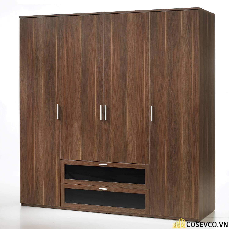 Tủ quần áo 4 cánh gỗ công nghiệp hay tủ quần áo 4 buồng gỗ công nghiệp mang lại ưu điểm nổi trội - Mẫu 4
