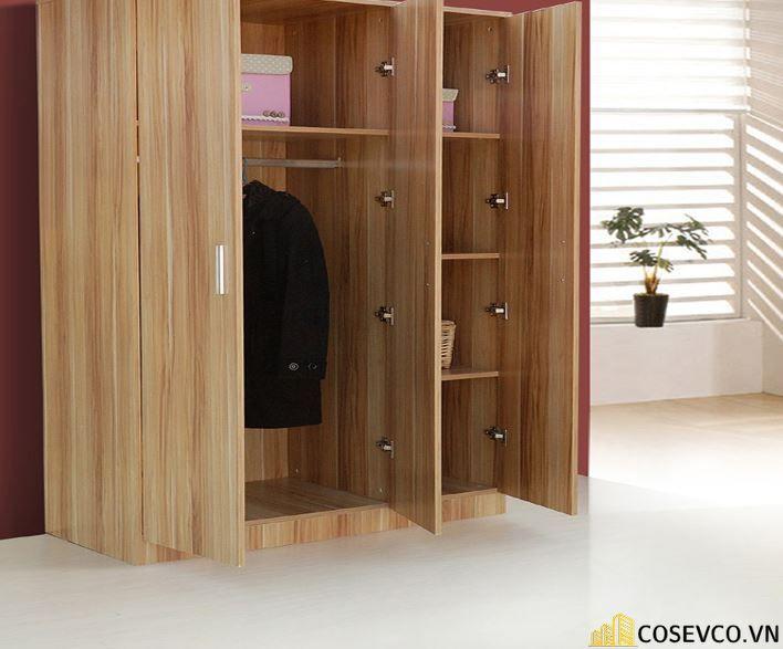 Mẫu tủ quần áo đẹp với thiết kế hiện đại gồm 2 cánh mở tiện lợi - Mẫu 2