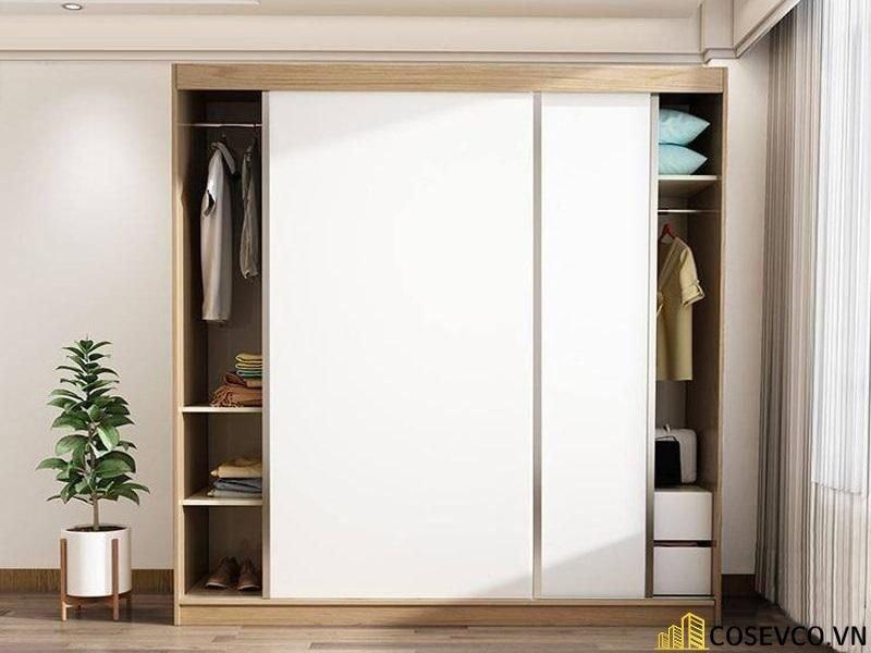 Mẫu tủ quần áo gỗ công nghiệp 1m2 là lựa chọn tối ưu dành cho những căn phòng có diện tích hạn chế - Mẫu 5