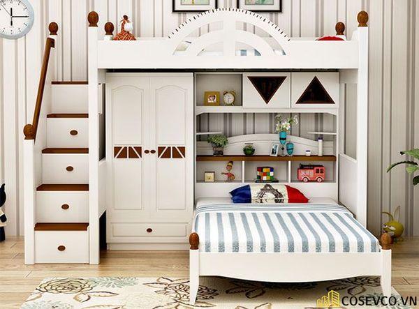 Mẫu tủ quần áo thông minh kết hợp giường hiện đại