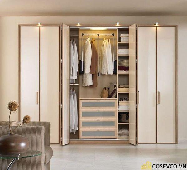 Mẫu tủ quần áo thiết kế thông minh đa năng