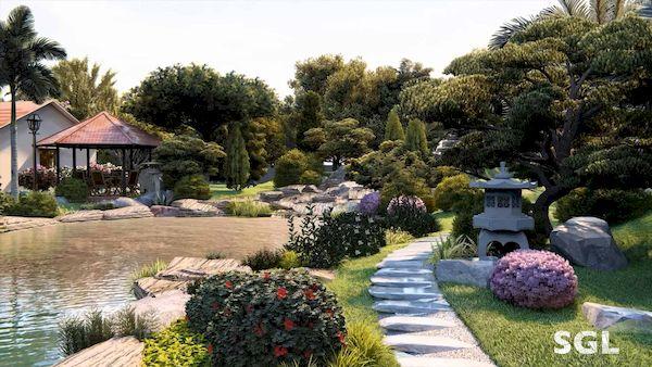 Hình 4: Thiết kế cảnh quan sân vườn theo từng loại cây hợp phong thủy