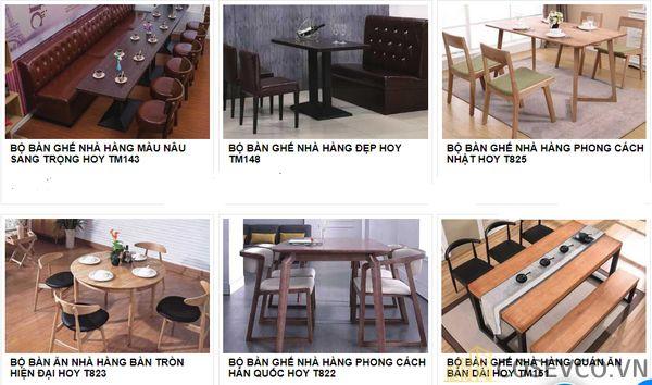 Mẫu bàn ghế quán nhà hàng - BST 8