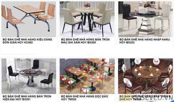 Mẫu bàn ghế quán nhà hàng - BST 6