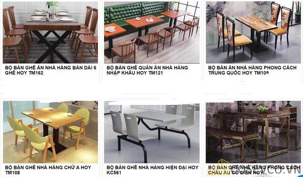 Mẫu bàn ghế quán nhà hàng - BST 2