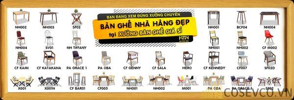 Bộ sưu tập mẫu bàn ghế nhà hàng - Cafe giá sỉ tốt nhất thị trường