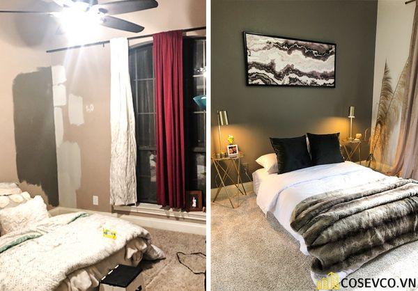 Hình ảnh trước và sau khi cải tạo phòng ngủ