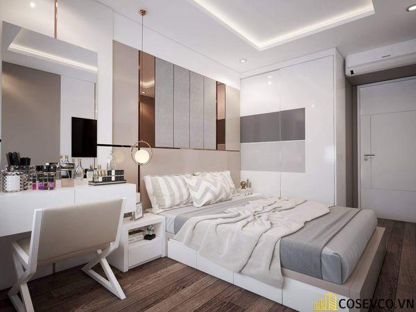 Bố trí nội thất phòng ngủ 20m2 sang trọng - M1