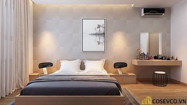 Bố trí nội thất phòng ngủ 20m2 sang trọng - M2
