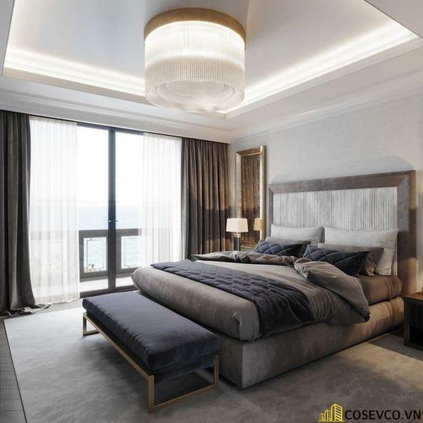 Bố trí nội thất phòng ngủ 20m2 sang trọng - M3