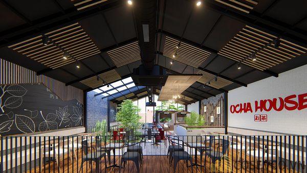 Mô hình thiết kế quán cafe - trà sữa đẹp ấn tượng - View 11