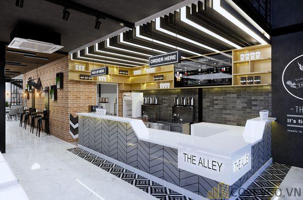 Mô hình thiết kế quán cafe - trà sữa đẹp ấn tượng - View 4