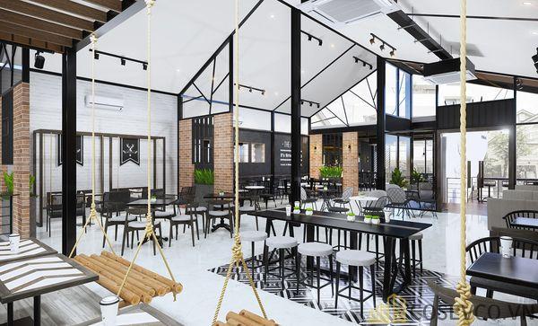 Mô hình thiết kế quán cafe - trà sữa đẹp ấn tượng - View 3