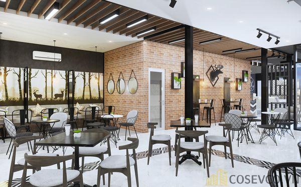 Mô hình thiết kế quán cafe - trà sữa đẹp ấn tượng - View 2
