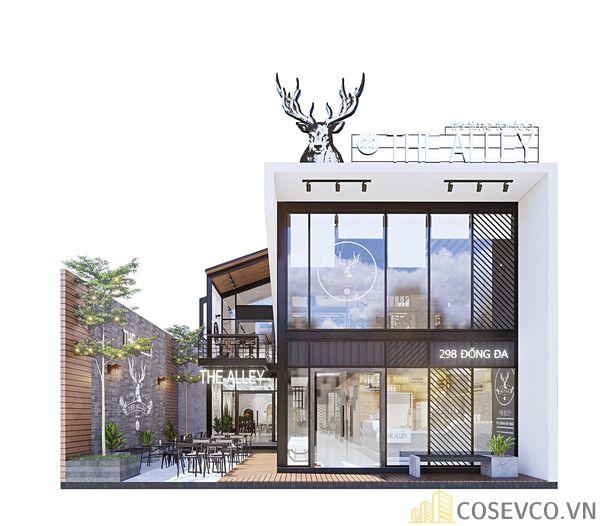 Mô hình thiết kế quán cafe - trà sữa đẹp ấn tượng - View 1