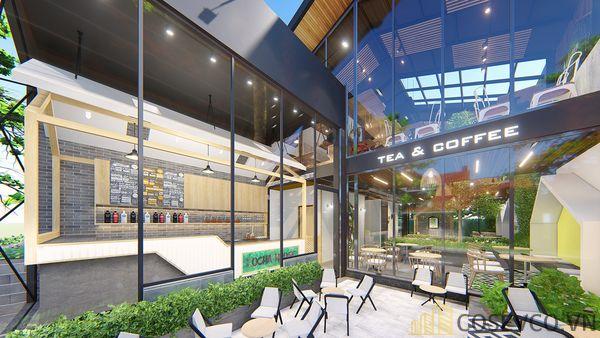 Mô hình thiết kế quán cafe - trà sữa đẹp ấn tượng - View 5