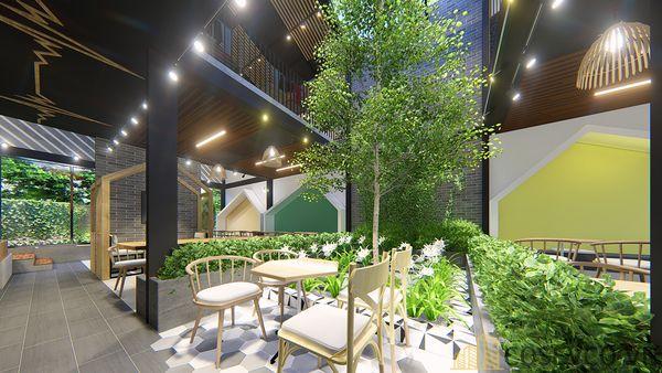 Mô hình thiết kế quán cafe - trà sữa đẹp ấn tượng - View 13