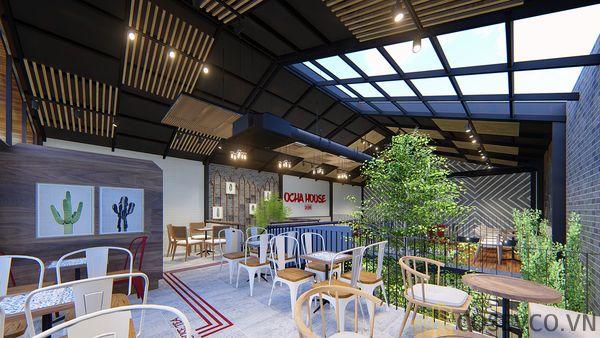 Mô hình thiết kế quán cafe - trà sữa đẹp ấn tượng - View 12