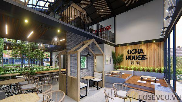 Mô hình thiết kế quán cafe - trà sữa đẹp ấn tượng - View 6