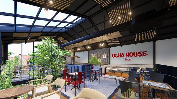 Mô hình thiết kế quán cafe - trà sữa đẹp ấn tượng - View 7