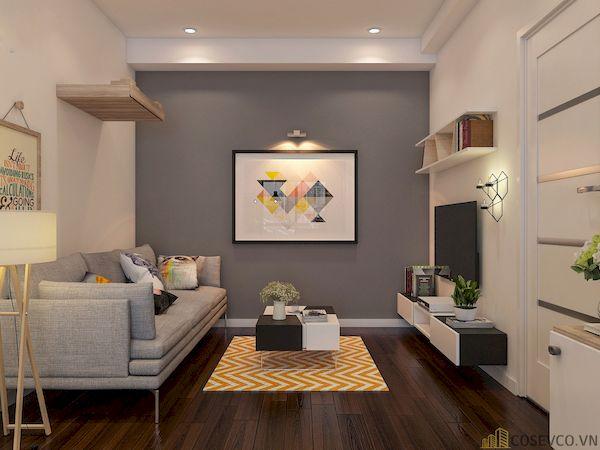 Phòng khách chung cư đẹp - Hình ảnh 1