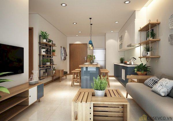 Phòng khách chung cư đẹp - Hình ảnh 2
