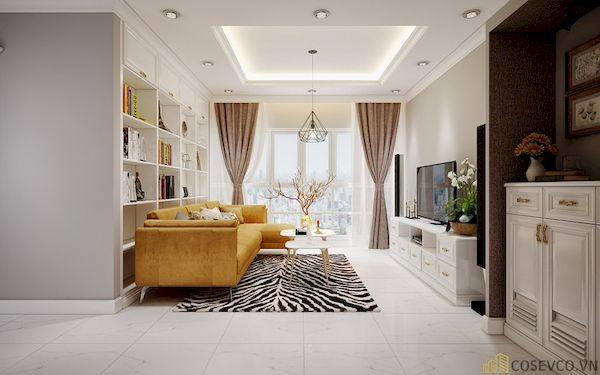 Phòng khách chung cư đẹp - Hình ảnh 11