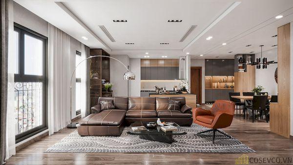 Phòng khách chung cư đẹp - Hình ảnh 12