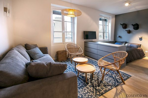 Phòng khách chung cư đẹp - Hình ảnh 13