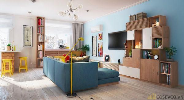 Phòng khách chung cư đẹp - Hình ảnh 14