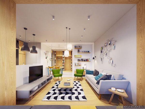 Phòng khách chung cư đẹp - Hình ảnh 15