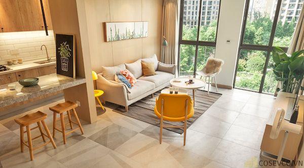 Phòng khách chung cư đẹp - Hình ảnh 16