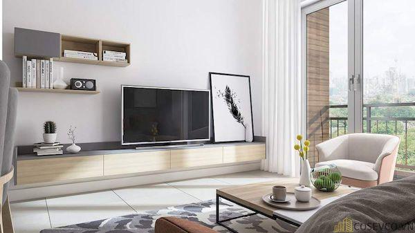 Phòng khách chung cư đẹp - Hình ảnh 18