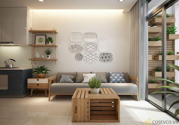 Phòng khách chung cư đẹp - Hình ảnh 3