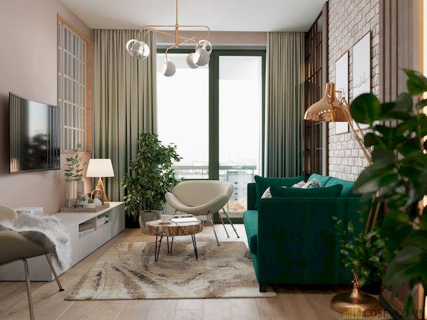 Phòng khách chung cư đẹp - Hình ảnh 22