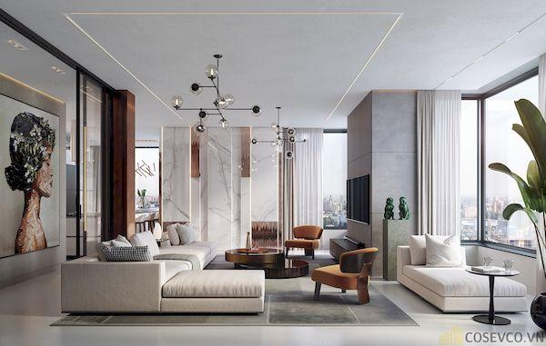 Phòng khách chung cư đẹp - Hình ảnh 23