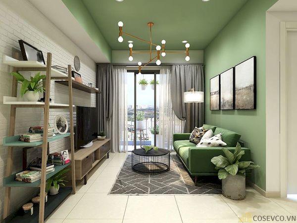 Phòng khách chung cư đẹp - Hình ảnh 25
