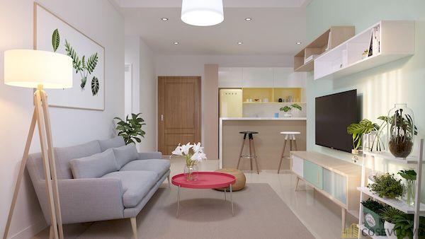 Phòng khách chung cư đẹp - Hình ảnh 27