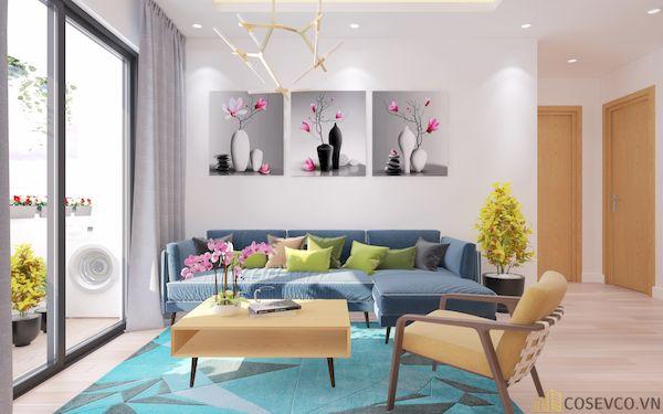 Phòng khách chung cư đẹp - Hình ảnh 29