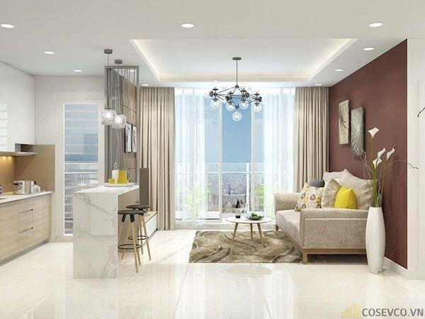 Phòng khách chung cư đẹp - Hình ảnh 34