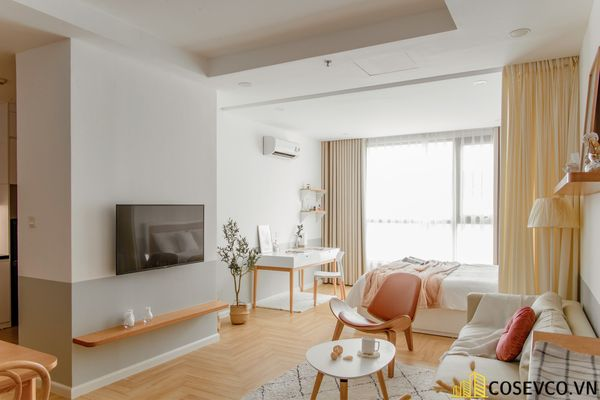 Mẫu thiết kế không gian căn hộ Studio 50m2 - View 4