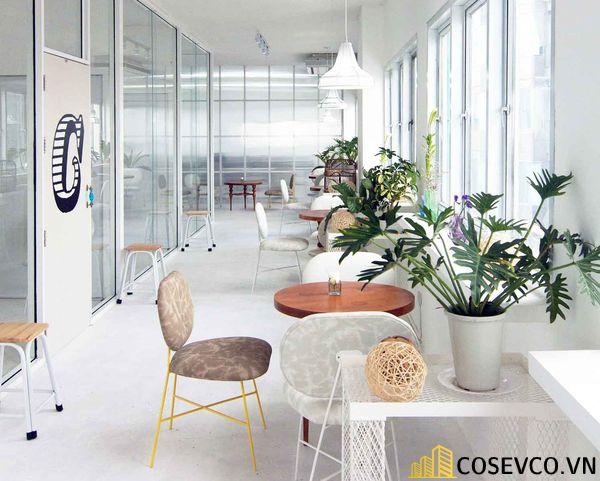 Mẫu thiết kế quán cafe văn phòng hiện đại tối giản - View 2