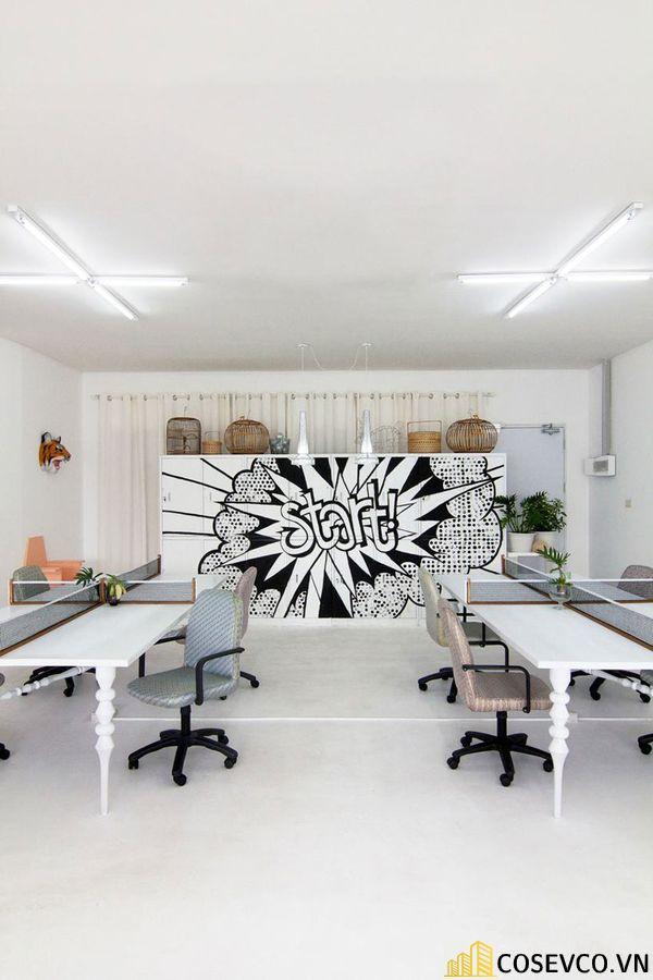Mẫu thiết kế quán cafe văn phòng hiện đại tối giản - View 1