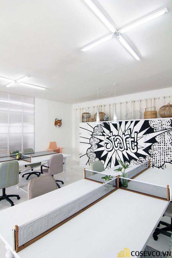 Mẫu thiết kế quán cafe văn phòng hiện đại tối giản - View 4