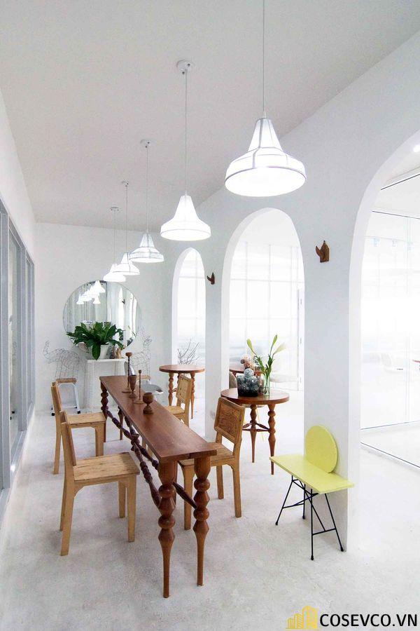 Mẫu thiết kế quán cafe văn phòng hiện đại tối giản - View 6