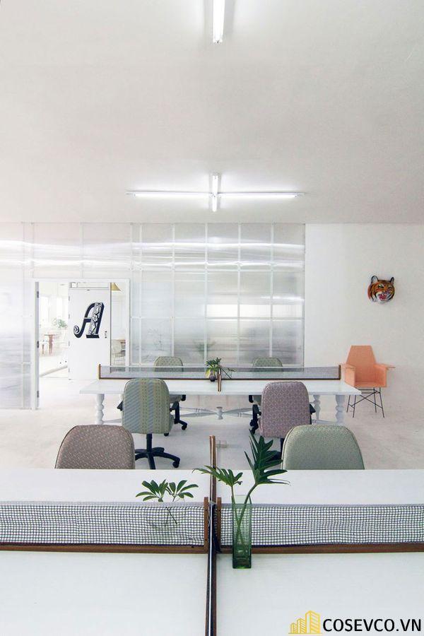 Mẫu thiết kế quán cafe văn phòng hiện đại tối giản - View 7