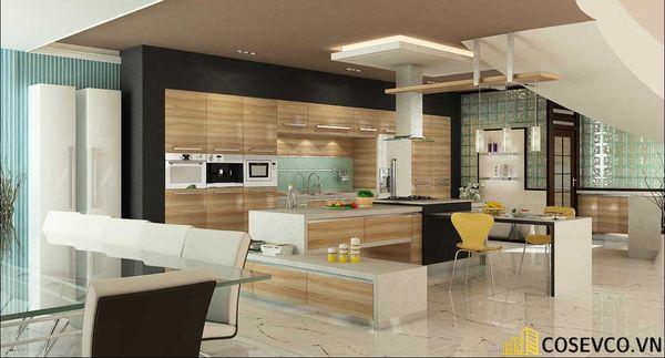 Tủ bếp chất liệu Veneer - M1