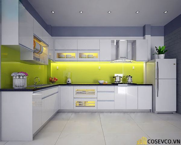 Tủ bếp chất liệu Acrylic - M1