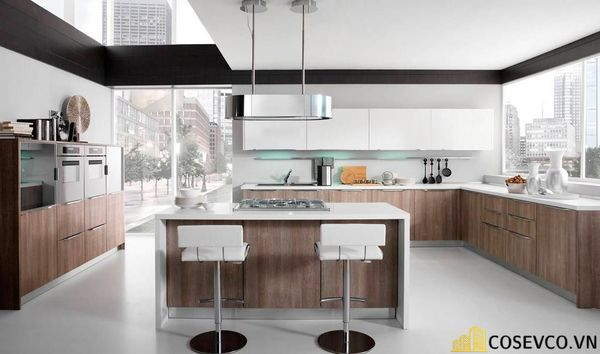 Tủ bếp chất liệu Laminate cao cấp - M1